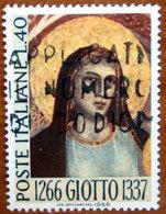 1966 ITALIA Arte Religione Giotto Volto Madonna Lire 40 Usato - 6. 1946-.. Repubblica