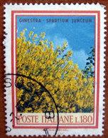 1968 ITALIA Fiori Ginestra Lire 180 Usato - 6. 1946-.. Repubblica