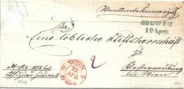 Faltbrief  Budweis - Klosterneuburg            1847 - Autriche
