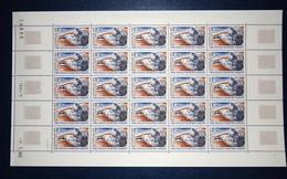 TAAF PLANCHE -  25 TIMBRES NEUFS ETAT LUXE PO 89 Avec Coin Daté Cote 50 - Unused Stamps