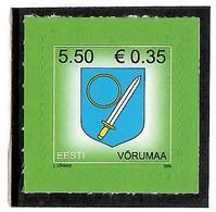 Estonia 2008 . COA Of Vorumaa. 1v: 5.50, S/adh.  Michel # 625 - Estonie