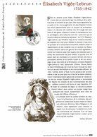 LES TRESORS DU TIMBRE FRANCAIS VIGEE LEBRUN - Documents Of Postal Services