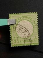 Deutsche Reich Brustschild Mi-Nr.  2 A Gestempelt - Germania