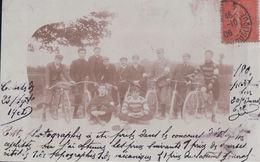 CARTE PHOTO Concours D'estafettes Cyclistes 23 Septembre 1906 écrite De Paris Le 15 Octobre 1906 - Altri