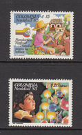 1985 Colombia Navidad Christmas Complete Set Of 2 MNH - Colombie