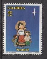 1988 Colombia Navidad Christmas Noel Complete Set Of 1 MNH - Colombie