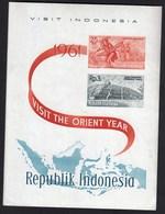 Indonesia 1961 / Tourism / Visit The Orient Year / Daja Dancer, Borobudur Temple / MNH - Holidays & Tourism