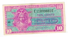 U.S.A. MPC, 10 Cents , Series 521. XF. - Certificati Di Pagamenti Militari (1946-1973)