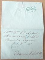 Portugal - COVER - 1852 - Cancel: Porto + Lisboa (destiny: Vianna Do Castello) - Portugal