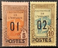 TUNISIE 1925 - MLH - YT 110, 111 - 01c/5c 02c/10c - Protection De L'enfance - Tunisie (1888-1955)