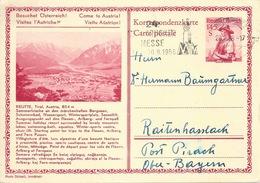 "Postkarte  ""Reutte, Tirol""  Innsbruck - Raitenhaslach         1956 - Stamped Stationery"