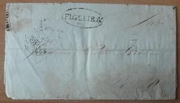 Portugal - COVER - No Stamp (1860) - Cancel: Figueira + Porto - 1855-1858 : D.Pedro V