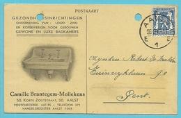 """426 Op Kaart Met Stempel AALST, Geillustreerd """"Gezondheidsinrichtingen BRANTEGEM-MOLLEKENS"""" - 1935-1949 Klein Staatswapen"""