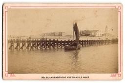 Fotografie Unbekannter Fotograf, Ansicht Blankenberghe, Vue Dans Le Port - Lieux