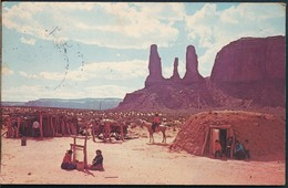°°° 19649 - USA - AZ - MONUMENT VALLEY - THE THREE SISTERS - 1978 With Stamps °°° - Other