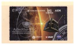 2020 MÉXICO AZTECH SAT1 PRIMER NANOSATÉLITE MEXICANO EN LA ESTACIÓN ESPACIAL, STAMP MNH  NANO SATELLITE LAUNCH  Space - Mexico