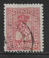 Norway Scott # 15 Used Arms, 1867, CV$70.00, Short Perfs - Norway