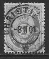 Norway Scott # 17 Used Post Horn, 1874, CV$40.00 - Norway