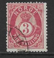Norway Scott # 18 Used Post Horn, 1872, CV$35.00 - Norway