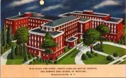 North Carolina Winston Salem North Carolina Baptist Hospital & Bowman Gray School Of Medicine At Night - Winston Salem