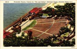 North Carolina Roanoke Island Waterside Theatre Curteich - Winston Salem