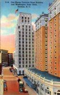 North Carolina Durham One Eleven Corcoran Street Building And Washington Duke Hotel 1944 Curteich - Durham
