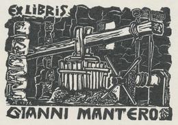 Ex Libris Gianni Mantero - Tibor Moskál (1930-2014) - Ex-libris