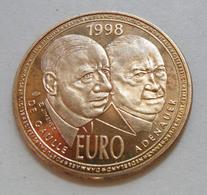 ULTIME MISE EN VENTE - Rare ESSAI Pièce 10 Euro France De 1998 De Gaulle Et Adenauer - Probedrucke