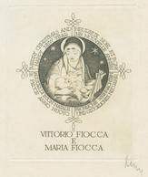 Nieuwjaarskaart Vittorio Fiocca E Maria Fiocca - Arpád Daniel Nagy (1922-1985) Gesigneerde Ets - Prenten & Gravure