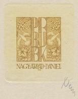 Nieuwjaarskaart P.F. Arpád Daniel Nagy (1922-1985) Gesigneerde Ets - Prenten & Gravure