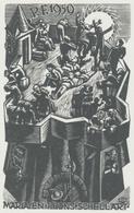 Nieuwjaarskaart P.F. 1959 Maria En Phons Schellart - Arpád Daniel Nagy (1922-1985) - Prenten & Gravure