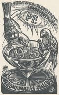 Nieuwjaarskaart 1975 Komaromi Imre - Lázár László Nagy (1935-) - Prenten & Gravure