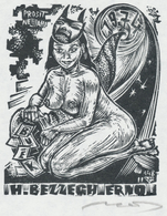 Nieuwjaarskaart 1974 H. Bezzegh Erwö - Lázár László Nagy (1935-) Gesigneerd - Prenten & Gravure