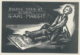 Nieuwjaarskaart 1930 Gaal Margit - József Menyhárt (1910-1976) - Prenten & Gravure