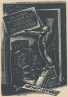 Verhuiskaart Réthy Istvan - József Menyhárt (1910-1976) - Prenten & Gravure