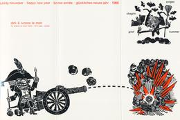 Nieuwjaarskaart 1966 Dirk La Meir - Prenten & Gravure