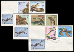 73 - Laos 1986  722/728 ; 929/935 Sur FDC - Laos