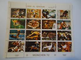 UMM AL QIWAIN USED SHEET OLYMPIC GAMES  MUNICH 1972 - Summer 1972: Munich
