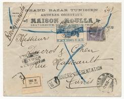 """TUNISIE - Env. En Tête """"Grand Bazar Tunisien"""" De Tunis R.P. - Retour à L'envoyeur - 1927 - Tunisie (1888-1955)"""
