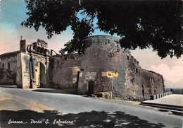 """M09041 """"SCIACCA-PORTA S. SALVATORE""""-CARTELLO AGIP - CART. ILLUSTR. ORIG.  SPED.1959 - Altre Città"""