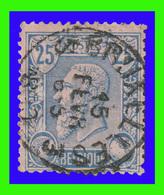 """COB N°48 - Belle Oblitération - """"BRUXELLES 3"""" - 1884-1891 Léopold II"""