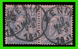 "COB N°48 En PAIRE - Belle Oblitération ""MENIN"" - 1884-1891 Leopold II."