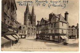 St Saint Lo La Cathedrale Vue De La Rue Thiers - Saint Lo