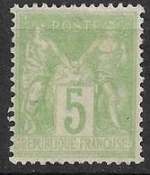 France  N° 106  Neuf  (  * ) B/TB  Très Bien Centré        .soldé à Moins De 10 % ! ! ! - 1898-1900 Sage (Tipo III)