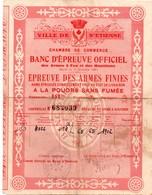 Saint-Etienne 1963 - Certificat Banc D'épreuve Des Armes à Feu - 19,5 X 14,7 Cm - Manufrance - Historical Documents