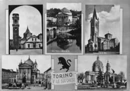 "M09055 ""TORINO E LE SUE CHIESE""5 VEDUTE - CART. ILLUSTR. ORIG. SPED.1957 - Churches"