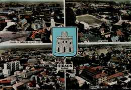 HIRSON...(02)...4 VUES DONT LE STADE....CPSM GRAND FORMAT - Estadios