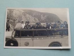 SEA Route Des Alpes Et Du LITTORAL - Belvédère D'Eze Grande Corniche ( Autobus / Car ) Anno 1932 ( Voir Photo Svp ) - Buses & Coaches