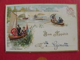 Image Chromo Extrait De Viande Liebig. T 8, Menu, Bon Appétit. Vers 1890-1900 - Liebig