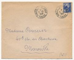 "TUNISIE - Env - Cachets ""Tunis Colis Postaux Tunisie"" 2/3/1956 - Lettres & Documents"